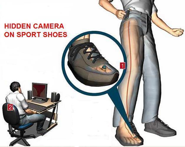 Spy Camera In Sports Shoes In Pali